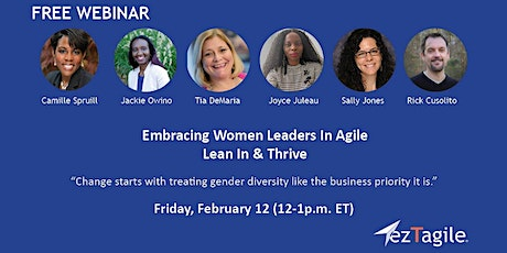 Embracing Women Leaders In Agile: Lean In & Thrive tickets