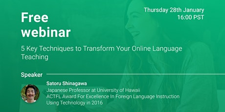 5 Key Techniques to Transform Your Online Language Teaching tickets