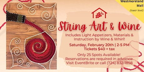 String Art and Wine at Westmoreland Mall tickets