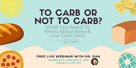 To Carb or Not to Carb? Webinar tickets