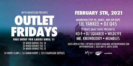 Outlet Fridays at Myth Nightclub | Friday 2.05.21 tickets