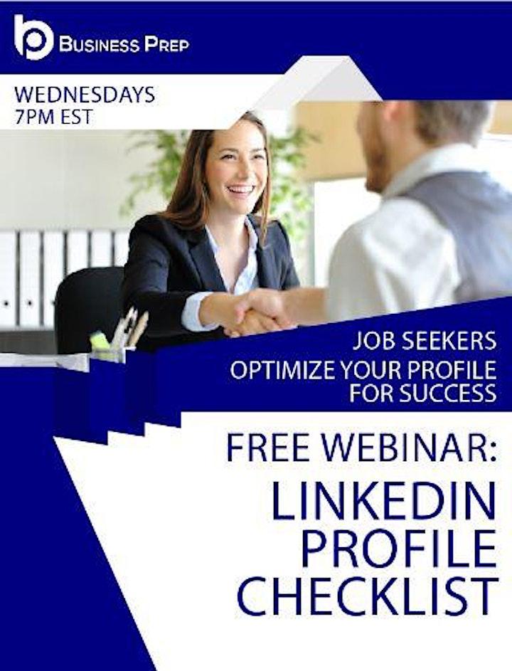 Business Prep - LinkedIn Profile Webinar image
