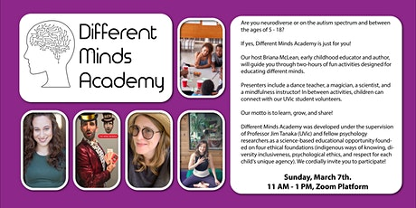 Different Minds Academy for  Autistic & Neurodiverse Children & Youth tickets