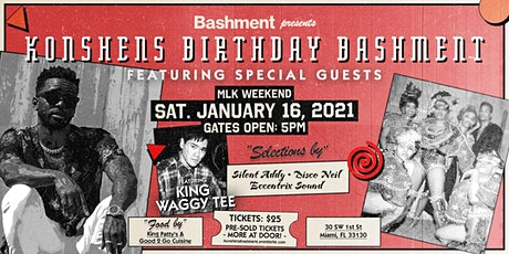 Bashment presents Konshens Birthday Bashment [90's Theme] tickets