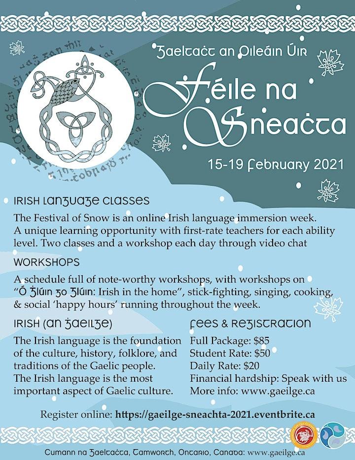 Féile na Sneachta (ar Líne) 2021 // 2021 Festival of Snow (Online) image