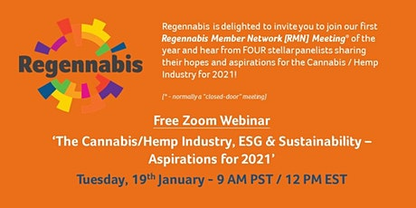 The Cannabis/Hemp Industry, ESG & Sustainability – Aspirations for 2021 tickets