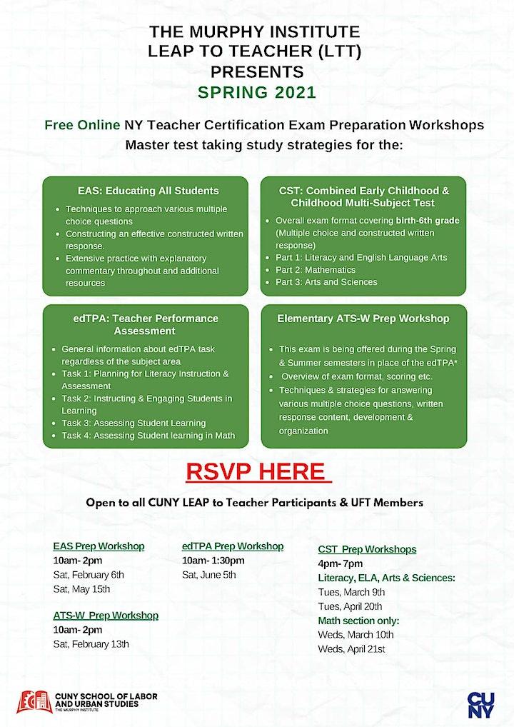 Free Virtual NY Teacher Certification Exam Preparation Workshops image