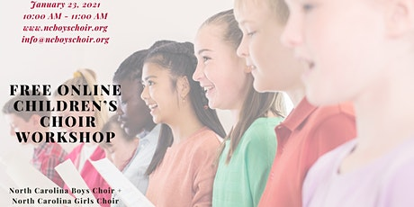 FREE Children's Virtual Choir Workshop tickets