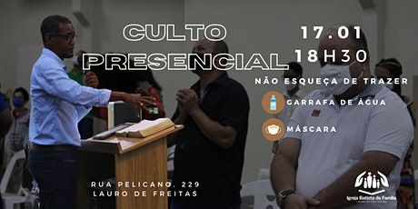 CULTO PRESENCIAL NOITE- IBFLAURO ingressos