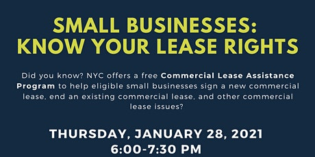 Bronx Small Businesses - Know Your Commercial Lease Rights tickets