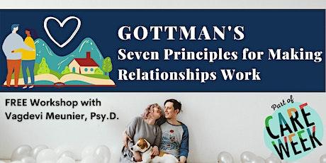 Gottman's Seven Principles for Making Relationships Work tickets