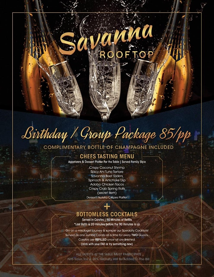"2/14 Valentines Day @ SAVANNA ROOFTOP IN HEATED PRIVATE ""SKY SUITES"" image"