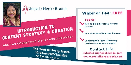 Introduction to Content Strategy & Creation tickets