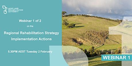 Webinar 1: Latrobe Valley Regional Rehabilitation Strategy Actions 1 and 3 tickets