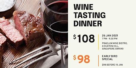 Wine Tasting Dinner @ Praelum Wine Bistro tickets
