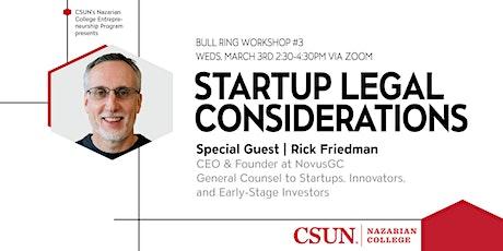 CSUN Entrepreneurship | Startup Legal Considerations tickets