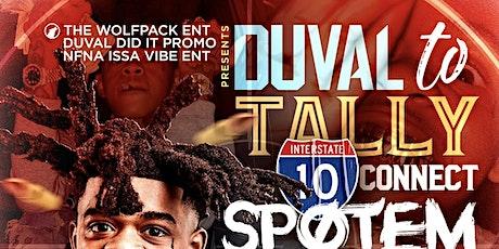 SpOtEm Gottem : DUVAL 2 Tally connect @ Cafe shisha Sat Jan. 30 tickets