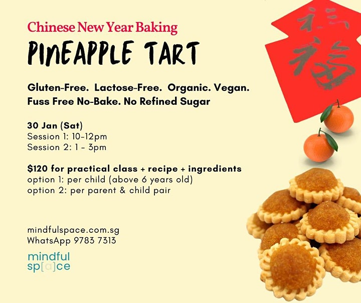 Chinese New Year Baking - Pineapple Tart  (age 6 & above) image