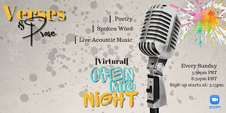 Verses & Prose Virtual Open Mic Night tickets