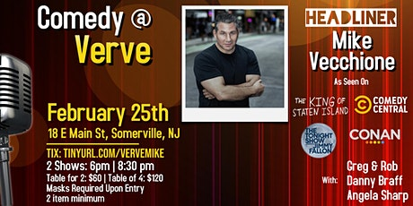 Comedy at Verve with Mike Vecchione! tickets