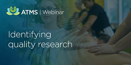 Webinar: Evidence-Informed Practice: Identifying Quality Research tickets