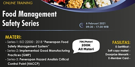 Paid Online Training: Food Management Safety Series tickets
