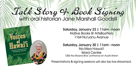Talk Story & Book Signing with Jane Marshall Goodsill tickets