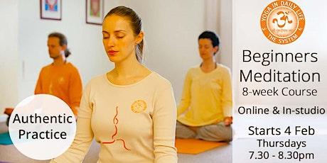 Beginners Meditation 8-week Course - In-studio & Online tickets