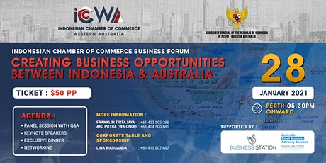 Indonesian Chamber of Commerce WA Business Forum Sundowner tickets