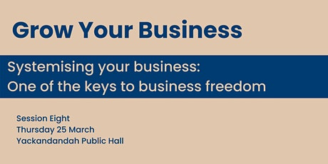 Systematising your business: one of the keys to business freedom. tickets
