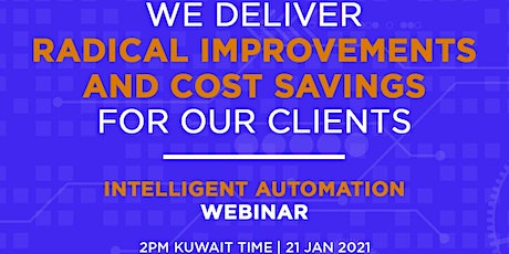 Intelligent Automation Webinar by KASP  and Hybrid Workforces tickets