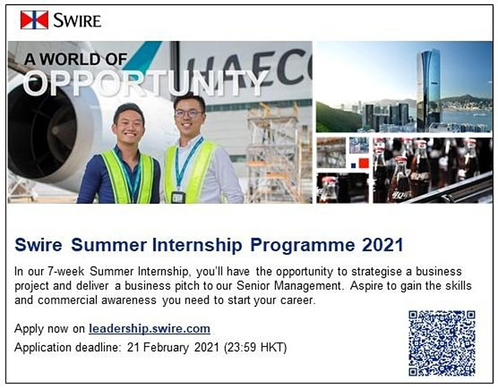 A Fruitful Summer with Swire in preparation for a Successful Career (CN) image