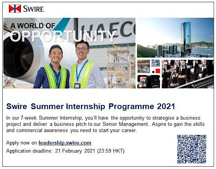 A Fruitful Summer with Swire in preparation for a Successful Career (EN) image
