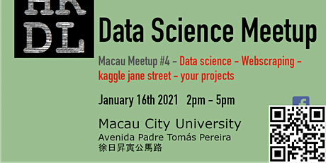Macau Data Science Meetup #4 tickets