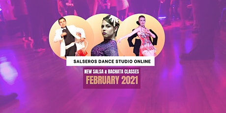Salsa & Bachata Online Classes - February 2021 tickets