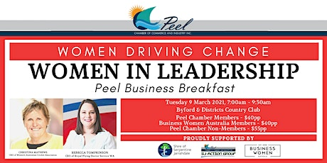 Women Driving Change - Women in Leadership Peel Business Breakfast tickets