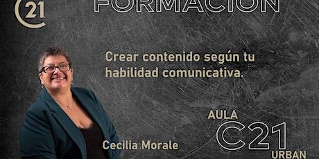 Píldora formativa,  Crear contenido según tu habilidad comunicativa. entradas