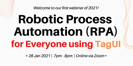 Robotic Process Automation(RPA) for Everyone using TagUI tickets