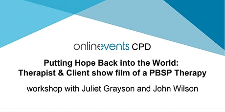 Put Hope Back to the World: Therapist & Client show film of a PBSP Therapy tickets