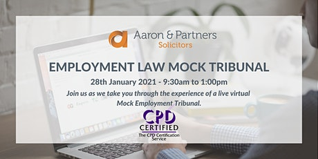 Aaron & Partners - Live Virtual Mock Employment Tribunal tickets
