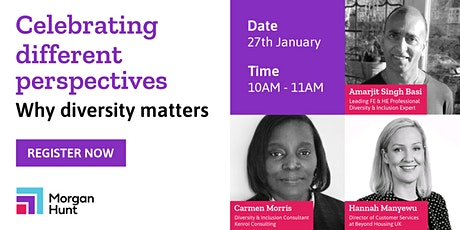 Celebrating different perspectives – Why diversity matters tickets