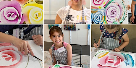 Kids Watercolour Roses Class tickets