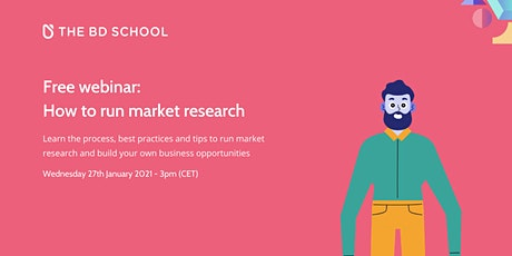 Free webinar: How to run market research tickets