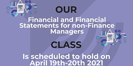 Finance and Financial Statements for non-Finance Managers & Entrepreneurs tickets