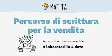 Scrittura per la vendita (marzo) - Percorso di 4 laboratori biglietti
