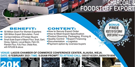 CHARCOAL & FOODSTUFF EXPORT SEMINAR tickets