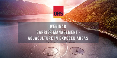 Webinar Barrier Management – Aquaculture in Exposed Areas tickets