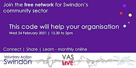 VAS-LIVE - this code will help your organisation tickets