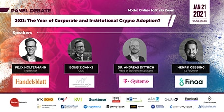 2021: The Year of Corporate and Institutional Crypto Adoption? tickets