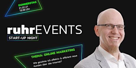 #ruhrSUN Online Marketing - Wie gewinne ich  neue Kunden über das Internet? Tickets
